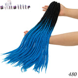 S-nolilite 20roots 24 inches Senegalese Twist Crochet Braid Hair Ombre Kanekalon