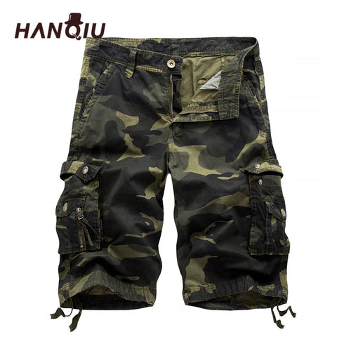 Camouflage Multi-Pocket Homme Army Casual Shorts Bermudas Masculina