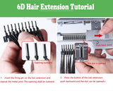 6D  Hair Buckle for 6D Hairextension machine 40pcs/lots Remy Hair Weave Connector  tools  free shipping