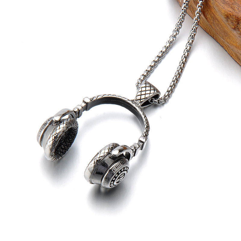 Surge Headphone Necklace - Silver