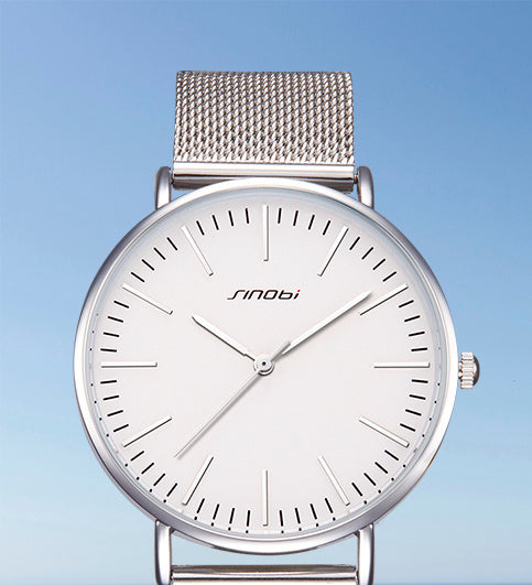 Slim Silver Watch
