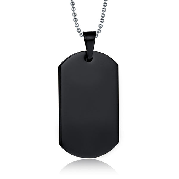 M.I.A. Black Dog Tag Necklace