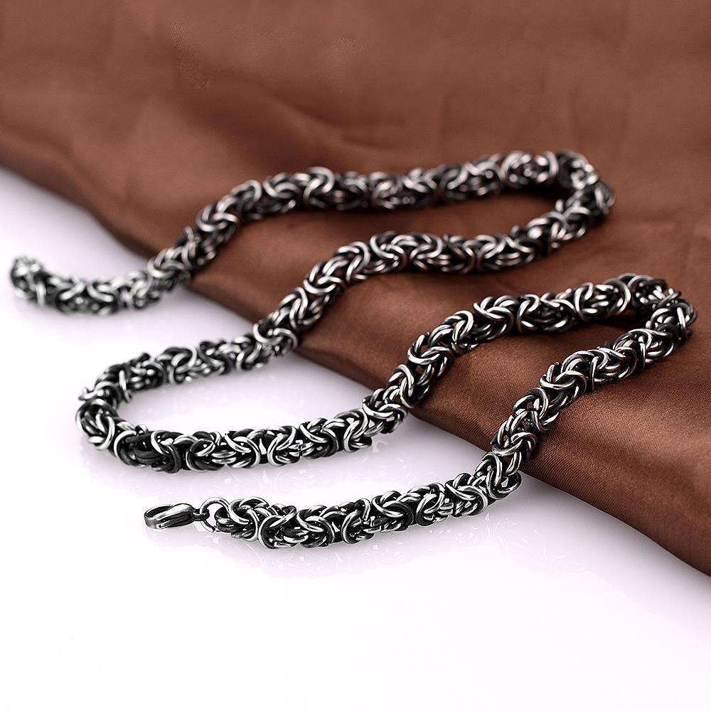 Beast Chunky Chain Necklace-Silver