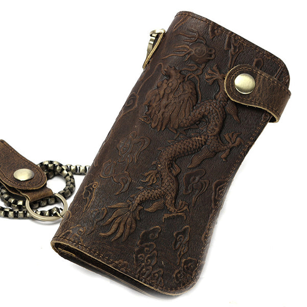 Inferno Long Dragon Wallet with Chain