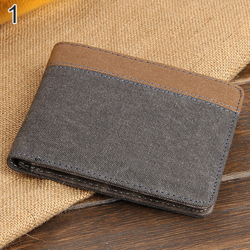 grey slim wallet