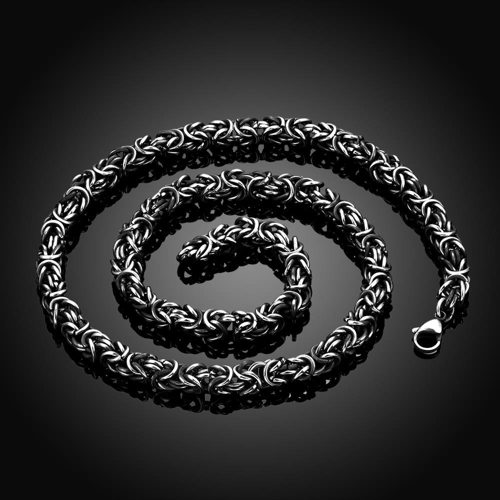 Beast Chunky Chain Necklace in Silver