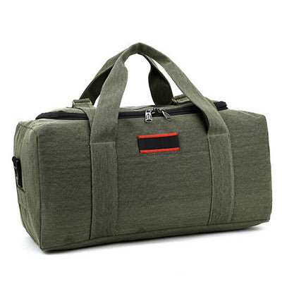 Olive Green Travel Duffle Bag