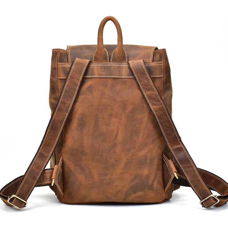 Alpine Vintage Leather Backpack