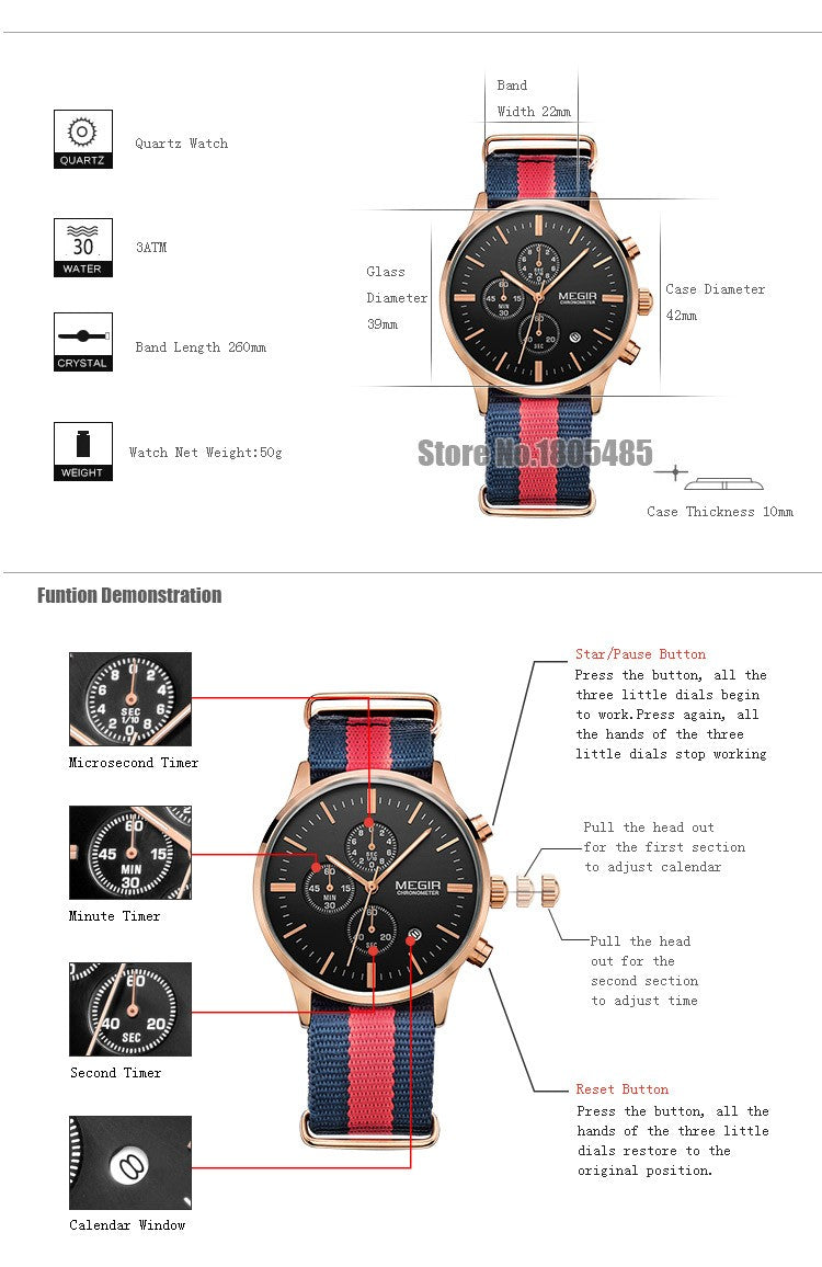 Fervor Chronograph Watch