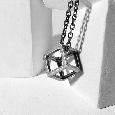 Cube Necklace - Silver