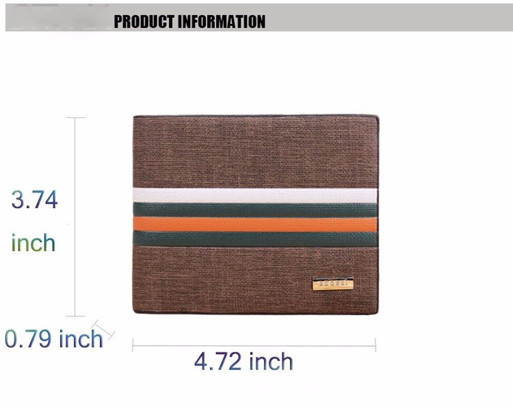 men's striped wallet