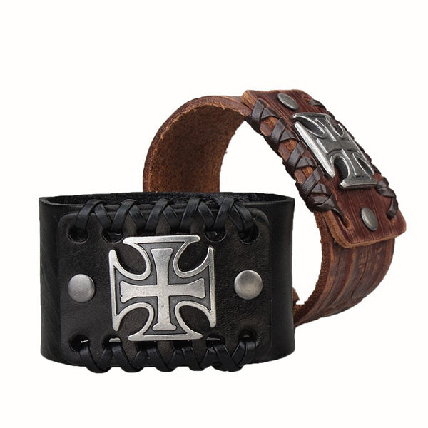Sentry Leather Cuff Bracelet
