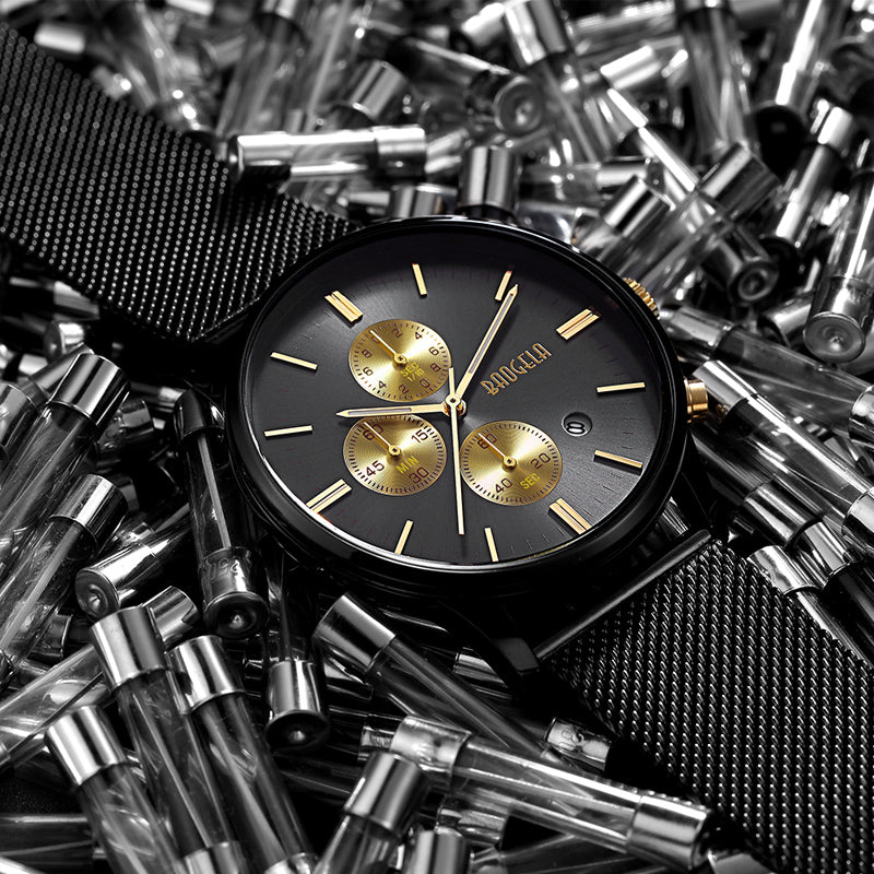 Monarch Black and Gold Watch