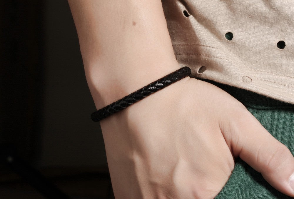 Fusion Woven Leather Bracelet