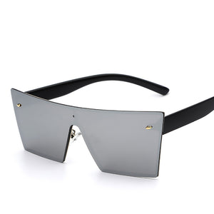 Silver Men's Rectangle Sunglasses