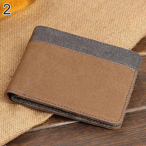 slim canvas wallet