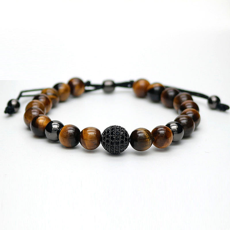 tiger eye bead bracelet