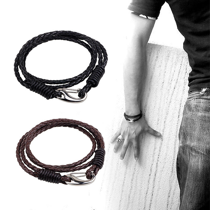 Black / Brown Wrap Bracelet