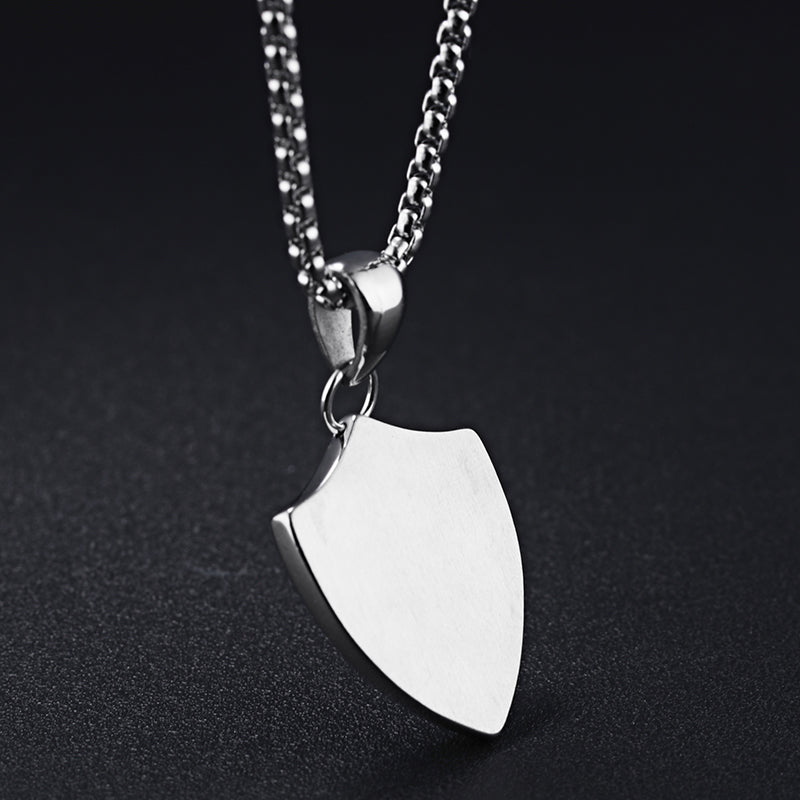 Silver Shield Necklace