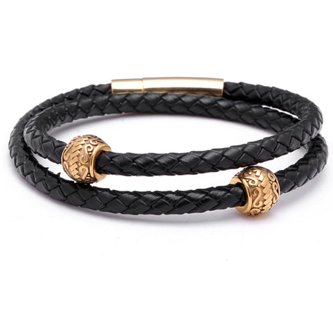 Elite Leather Wrap Bracelet