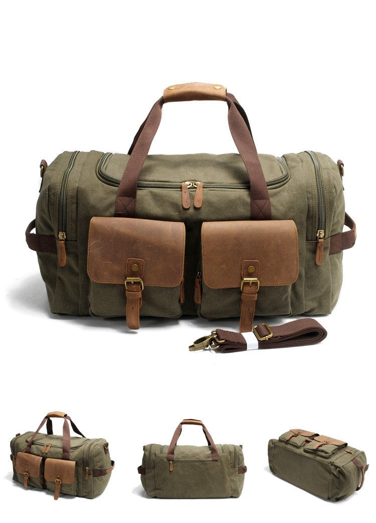 Green Vintage Duffle Bag