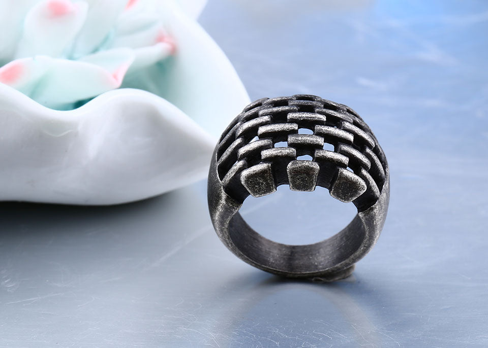 antiqued biker ring