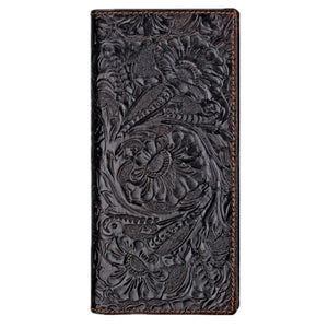 Long Embossed Wallet