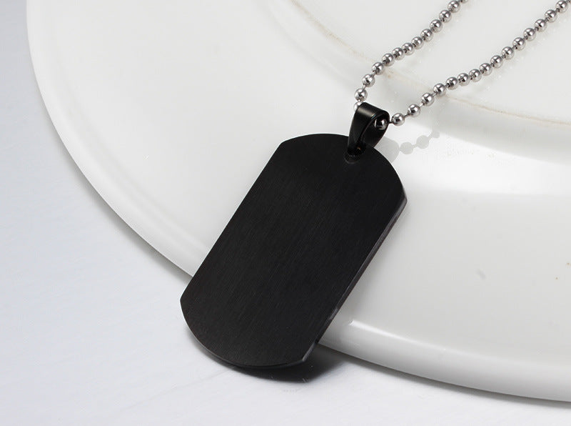M.I.A. Dog Tag Necklace - Black