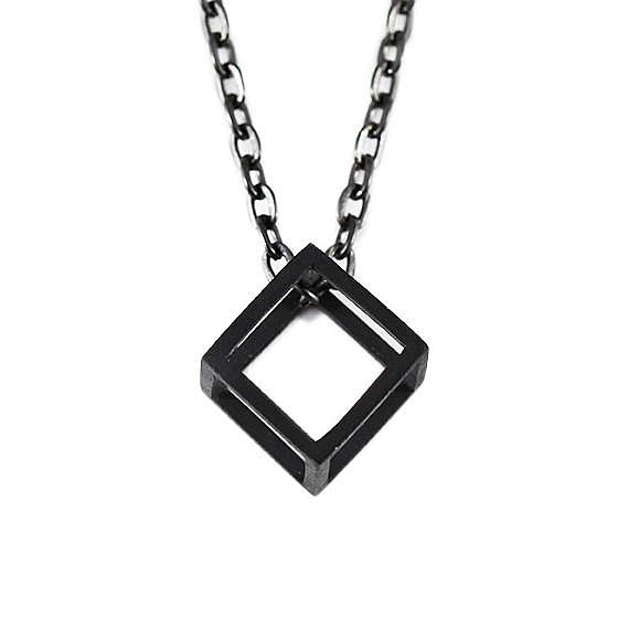 black cube necklace