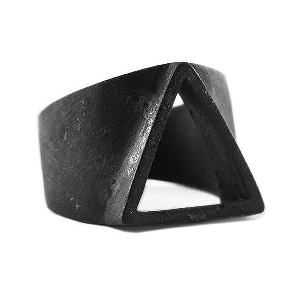 black minimalist ring