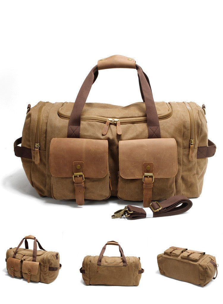 Brown Vintage Duffle Bag