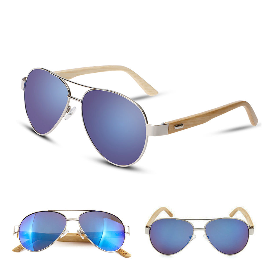 Purple Aviator Sunglasses