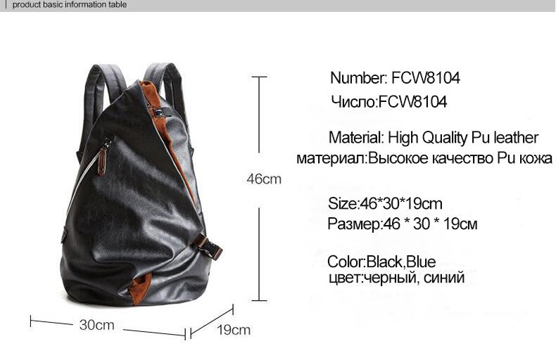 Veil Black Leather Backpack