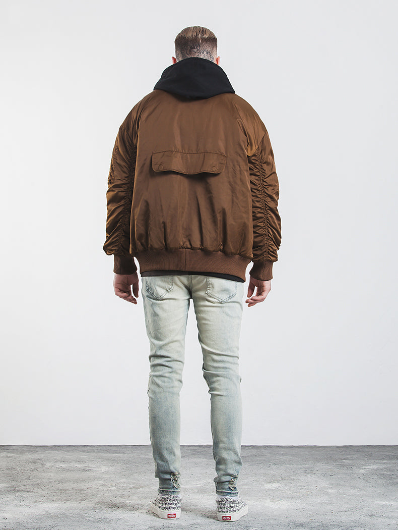 copper bomber jacket