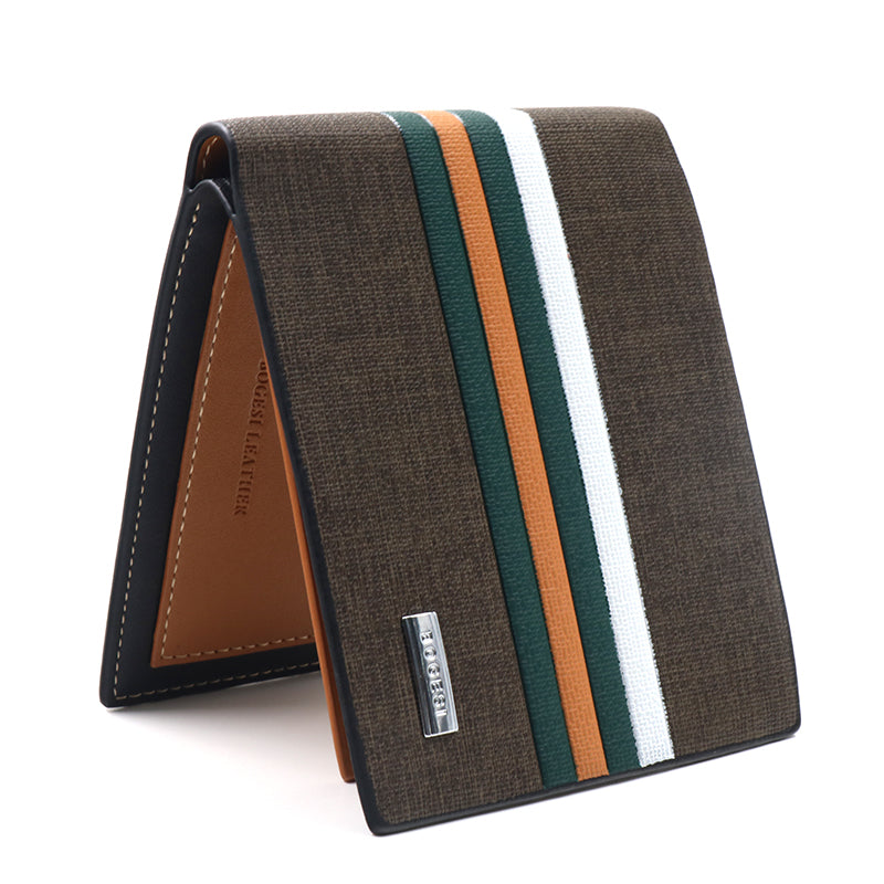 mens striped wallet