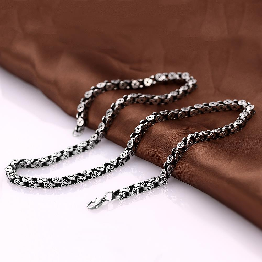 Silver Thick Chain Necklace