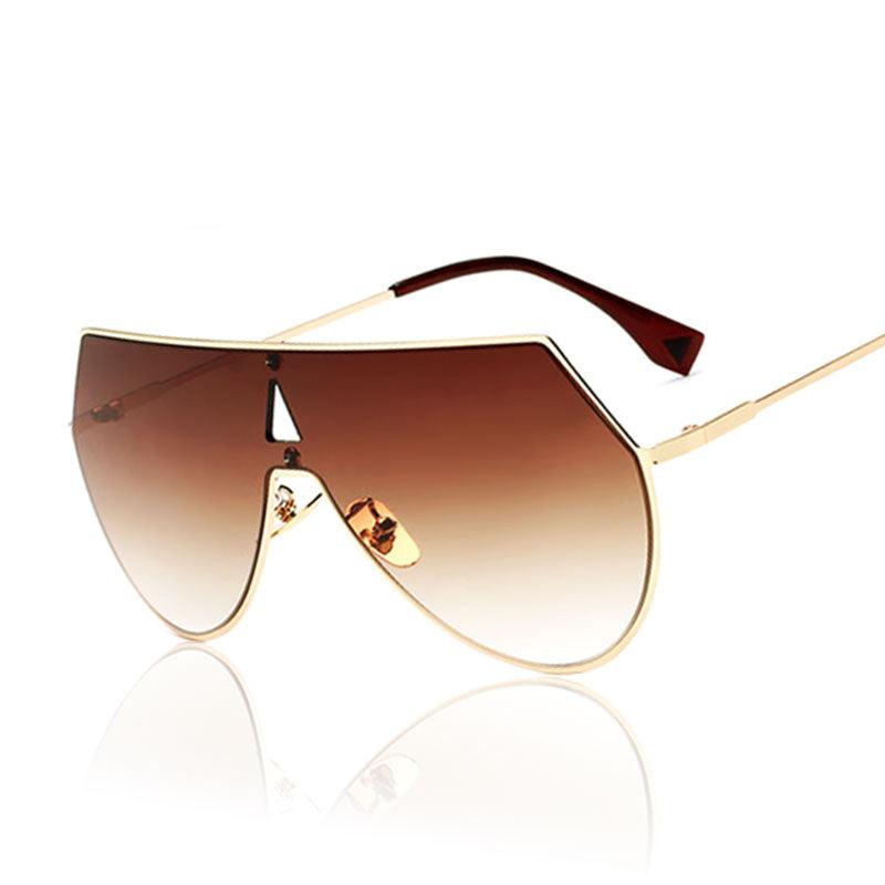 Brown Aviator Sunglasses for Men