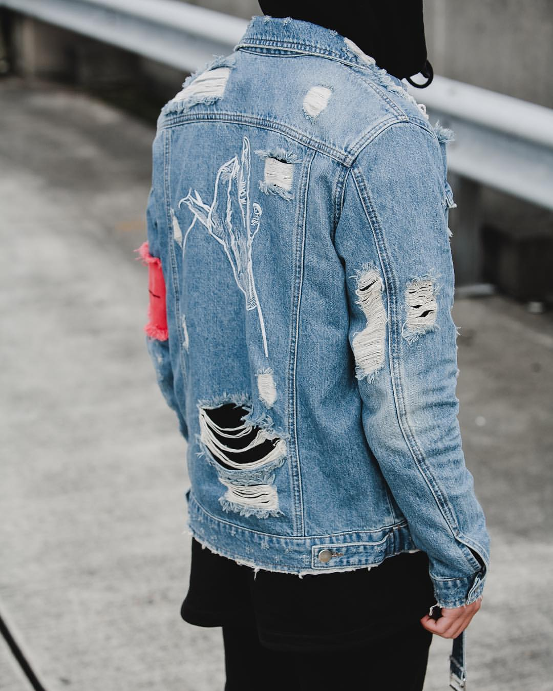 destroyed jean jacket