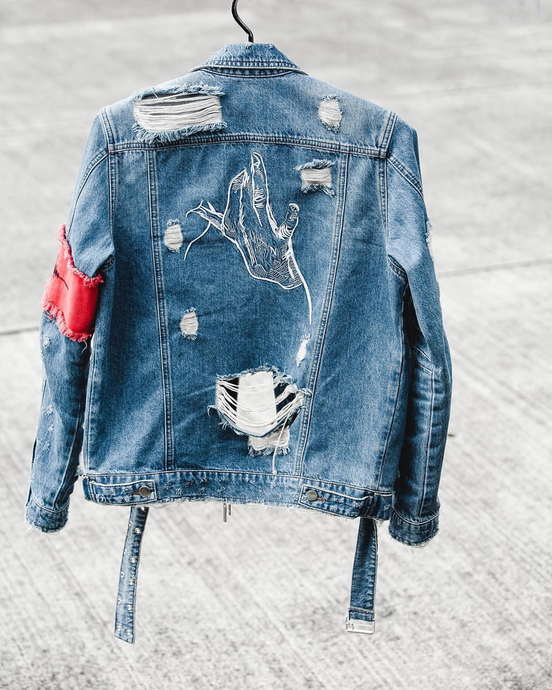 destroyed trucker jacket