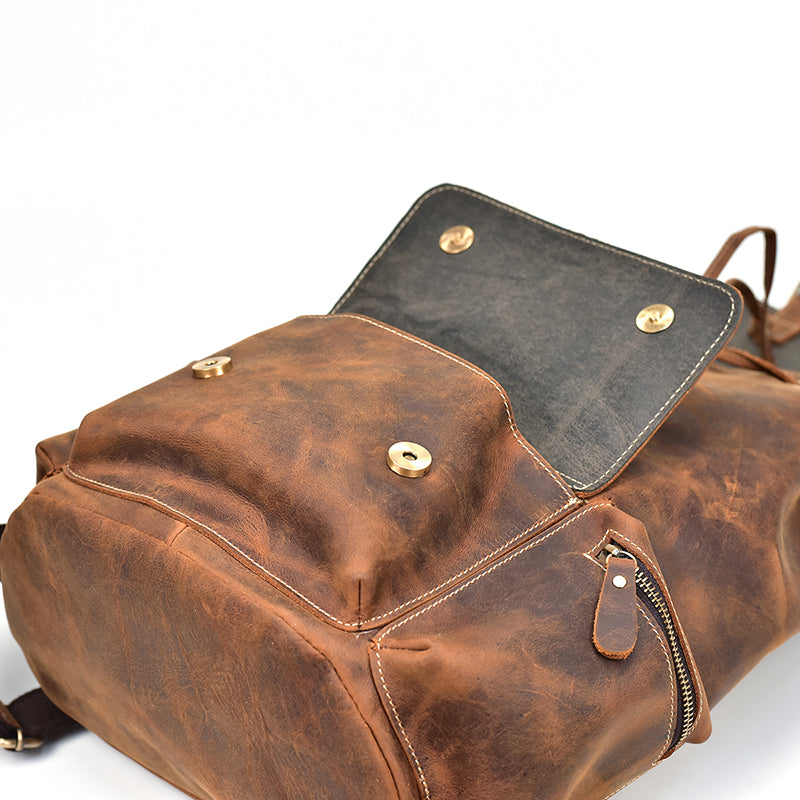 Vintage Leather Backpack - Alpine