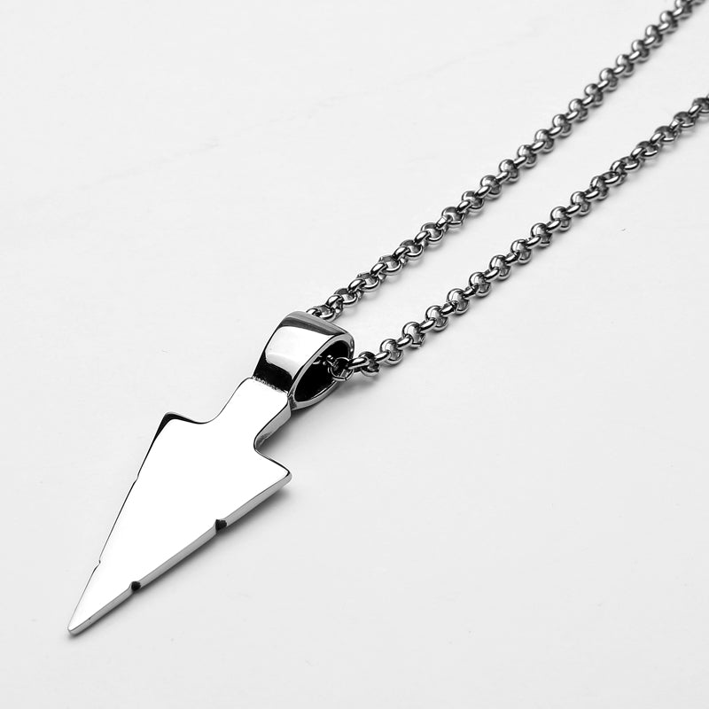Yurok Arrowhead Necklace - Silver