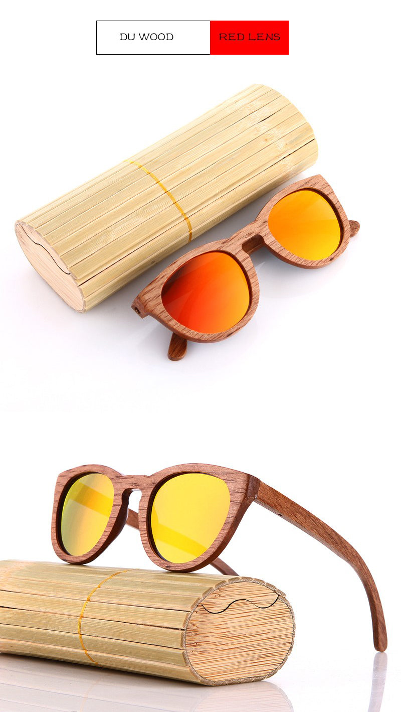 Yellow Lens Wooden Sunglasses