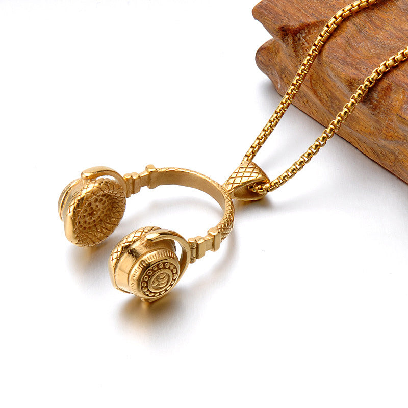 Surge Headphone Necklace - Gold