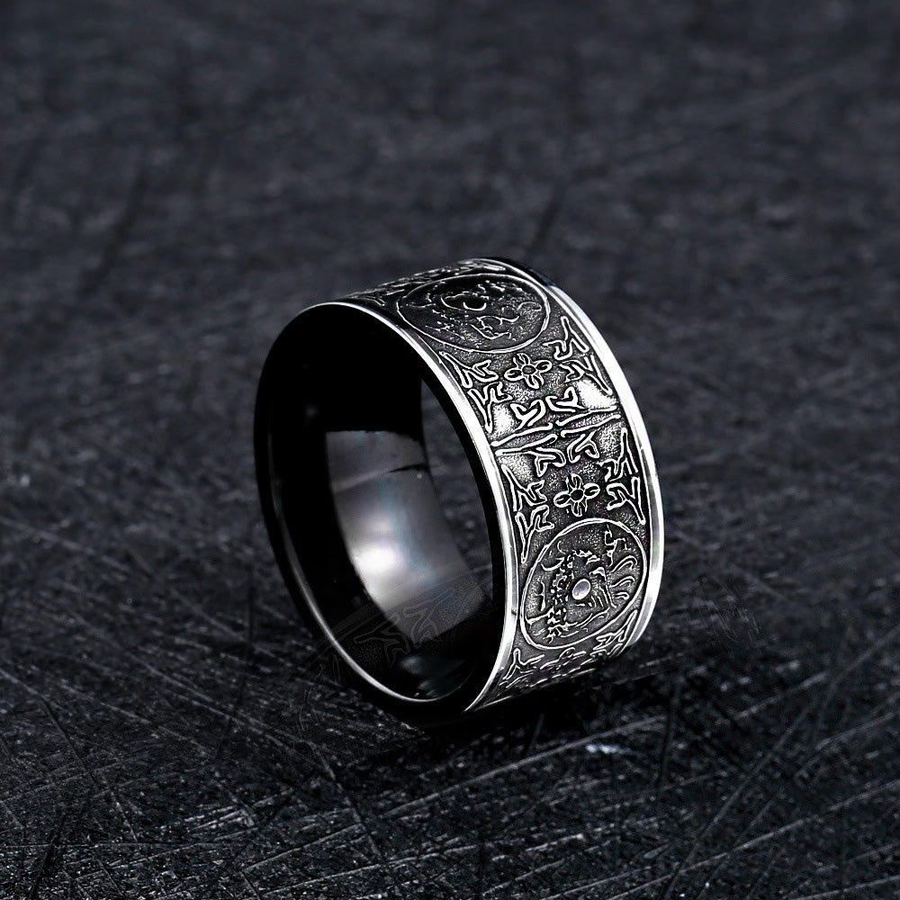 relic etched ring