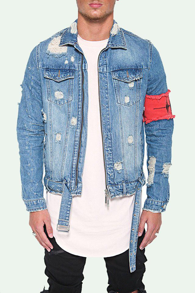 streetwear denim jacket