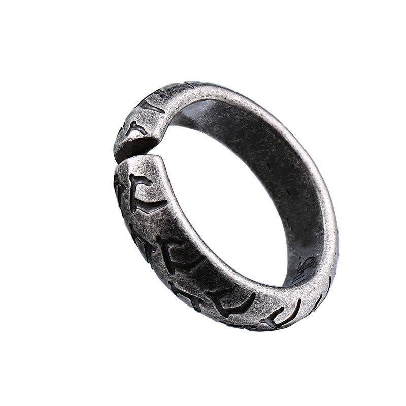Tread Titanium Ring