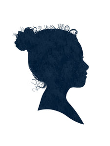 Watercolour Silhouette Portrait