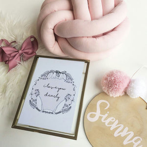 Fine Art Print for girls, children, nursery, playroom, flatlay with beautiful pink Australian hand made items.