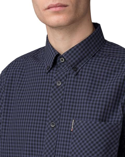 Gingham Shirt - Black/Blue