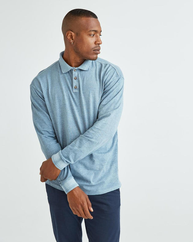 Relaxed Long Sleeve Polo - Mirage